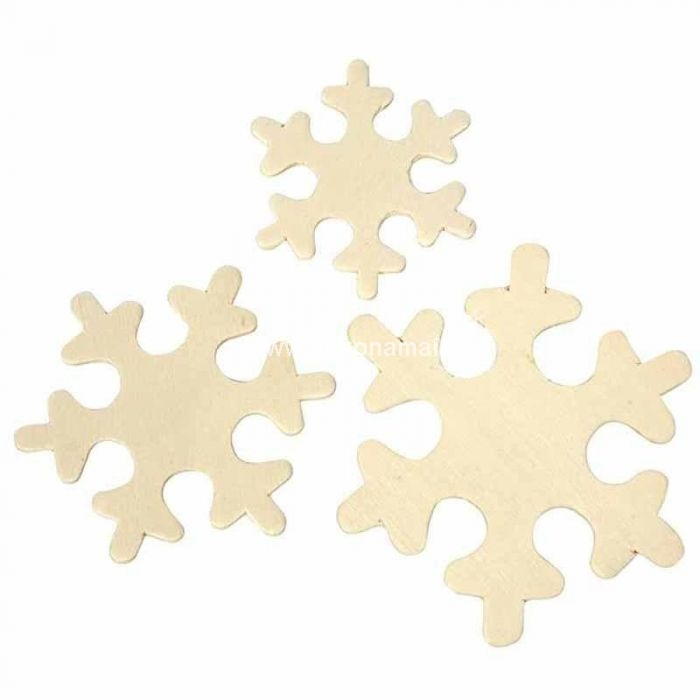 Cuts snowflakes in thin wood. Contains 3 sizes 20 pcs.<br />size 4-6 cm