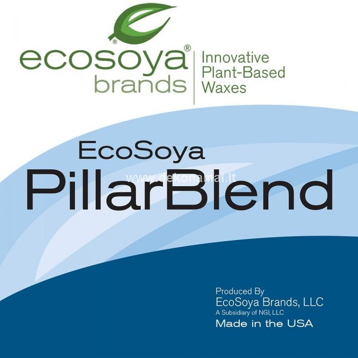 "EcoSoya PB Instructions EcoSoya Piller Blend (PB) is self-releasing so it is perfect for all molded candles: pillars, votives, tarts, novelty candles, etc. Molds Molds should be clean and room temperature. Conditioning is recommended with new molds or molds previously used with paraffin. This simply involves thoroughly wiping the inside walls with warm soybean/vegetable oil. Dyes Most dyes (powder, liquid, chips, blocks, etc.) work with PB. To achieve better color depth, use about 30% more dye. When using powder dyes, heat the wax to 190°F (87.8°C), add the dye, and mix until dissolved. Powder dyes may also be dissolved in fragrances and then added to the melted wax (be sure the dye has dissolved completely before adding). *When using powder dyes dissolved in fragrance, liquid dyes, color blocks, chips or no dye, heat the was to 155°F (68.3°C). Fragrance Many fragrances work in PB, especially those designed for soy wax in general. Recommended maximum scent load is about 12%. To minimize scent loss, add scent prior to pouring but at a wax temperature no less then 145°F (61.1°C). Accomodate for temperature drop due to the addition of the cooler scent when targeting pour temperature. Some scents may react poorly causing bleed, objectionable frosting, or poor flame quality. Try a different scent or manufacturer to correct that occurrence. Wicking PB requires larger wicking than paraffin. Wicks such as paper cored, cotton cored or metal cored should be avoided as they tend to cause sooting and carbon build-up. PB tends to burn more down than out creating a Hurricane Candle effect in pillar candles. Scent, color and candle configuraton have a great impact on the best wick choice. Too large of a wick may cause sooting, quick burn times and guttering (wax leaking through the side of the candle).MeltingWhen using dye, except for powdered or un-dyed PB, melt the wax to a minimum of 155°F (68.3°C) under gentle agitation to promote even heating and thorough mixing. For powder dyes, heat the wax to 190°F (87.8°C) to ensure the dye dissolves. Temporary high temperatures such as 190°F (87.8°C) have no adverse effect if cooled quickly. Higher temperatures, in excess of 190°F (87.8°C) may cause wax to discolor. Allow the wax to cool to the desired pour temperature.PouringIt is typical for wax to solidify at the beginning of the pour during its first contact with the mold. PB should have a pour temperature high enough so that when the mold is full, the initial solidified wax has remelted. The temperature should not be so high that the liquid wax sits more than 30 minutes before starting to solidify.Pour temperatures will vary according to mold type and size, fragrance and dye, and the effects preferred. PB does not normally produce static electricity or bubbles when poured, tapping of the molds is not necessary. A recommended starting temperature is 155°F (68.3°C).There is a difference in cooling rates for different mold configurations. Cooling too quickly or too slowly can cause cracking and/or frosting. If difficulties are experienced with your pour temperatures, try a lower or higher temperature in increments of 10°F (6°C).PB Double-Pour: When using EcoSoya PB two pours are required with candles such as 3 & 4 inch (7.6 cm & 10.2 cm) diameter pillars. The first pour is done at 155°F (68.3°C) by filling the mold to the top and allowing the candle to set up with a warm but congealed soft center. If the top of the mold (bottom of the candle) has ""skinned"" over and left a void inside, poke two holes into the candle near the wick.The second pour is done at 140°F (60.0°C) while the candle center is still warm but congealed.Do not pour past the solidified wax of the first pour; in essence ""fill"" the first pour.Making Votives with PB: The first pour is done at 155°F (68.3°C) by filling the mold within 1/8 inch (0.3 cm) from the top. Allow the votive to cool until it is still warm with a congealed center that has no liquid. If the top of the candle has ""skinned"" over, poke two holes near the wick. Pour a second time at 140°F (60.0°C) to completely fill the votive mold.Pour temperatures should be checked and confirmed according to seasonal changes.Candle Cooling and Mold ReleaseCool undisturbed candles at an ambient temperature of 70°F (21.1°C). The molds should be at least 1/2 inch (1.3 cm) apart to allow air circulation for even cooling.EcoSoya PB is self-releasing. Slower cooling will encourage the candle to adhere to the mold causing it not to release, while quicker cooling will encourage pull away and release. PB is designed to shrink back from the mold for easier release and should be encouraged to do so. Silicone mold release spray may be used in the unusual event of poor release.Candles should be allowed to sit undisturbed for 48 hours before test burning."